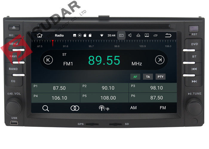 6.2 Inch Android Compatible Car Stereo Touch Screen , Kia Sportage Dvd Player Support OBD