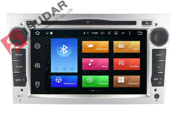 Silver Panel Opel Corsa Dvd Player , Android Bluetooth Car Stereo With Google Maps