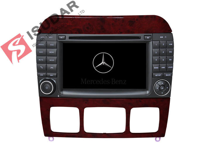 1024 * 600 HD 7 Inch Mercedes S Class Dvd Player , Mercedes Benz Car Stereo OBD Support